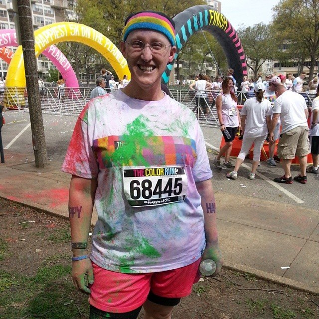 after running the Color Run 5K
