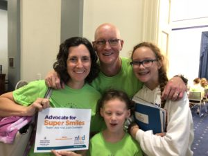 Karl Nelse and his family shared their story at the NFED Advocacy Day in 2018.