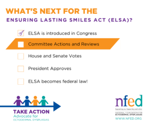 The next step in the process to get the Ensuring Lasting Smiles Act passed is committee review.
